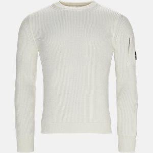 Merino Fisherman Crew Neck Sweater Regular | Merino Fisherman Crew Neck Sweater | Hvid